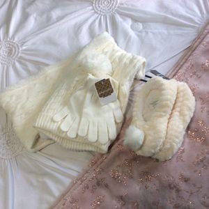 Kirkland's winter set. Slippers hat gloves scarf